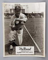 Stan Musial Autographed Rawlings Photo