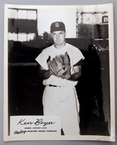 Ken Boyer Autographed Rawlings Photo