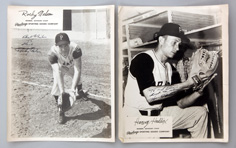 Harvey Haddix & Rocky Nelson Autographed Photos