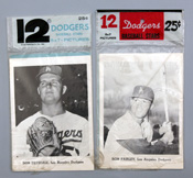 Two L.A. Dodgers 1960's Picture Packs