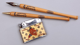1957 Milwaukee Braves Lighter & Boston Braves Pen