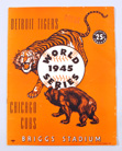 1945 Tigers World Series Program