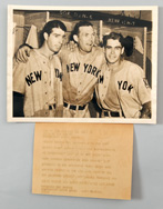 1939 Joe Dimaggio & Yankees Original AP Photo