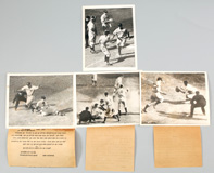 Four 1939 Yankees Original AP Photos