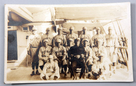 USS Prairie Baseball Team Photo Postcard