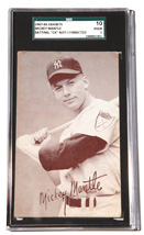 1947-66 Mickey Mantle Exhibit Card