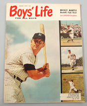 1959 Boys Life Magazine w/ Mickey Mantle Cover