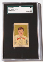 1923 W515-1 Babe Ruth Card