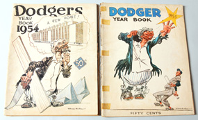 1954 & 1955 Brooklyn Dodgers Yearbooks