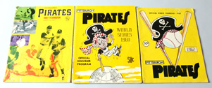 1960 Pirates Wold Series Program Plus 1962 & 67 Yearbooks