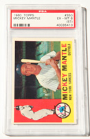 1960 Topps Mickey Mantle Card PSA6