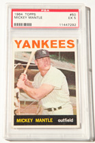 1964 Topps Mickey Mantle Card PSA 5
