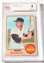 1968 Topps Mickey Mantle Card BVG 4