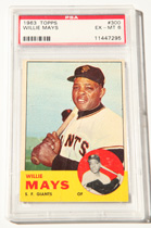1963 Topps Willie Mays Card PSA 6