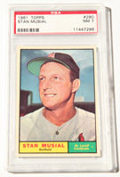 1961 Topps Stan Musial Card PSA 7