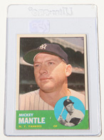 1963 Topps #200 Mickey Mantle Card