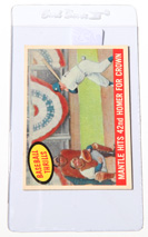 1959 Topps #461 Mantle Hits 42nd Homer Card