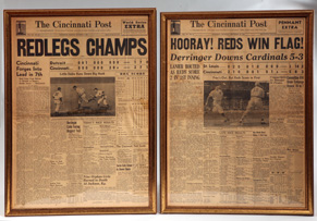 1939 & 1940  Cincinnati Reds Championship Newspapers