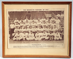 1947 Brooklyn Dodgers Photo w/ Jackie Robinson