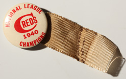 1940 Cincinnati Reds Pin Back Button