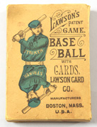 Rare 1884 Lawson's Base Ball Card Game in Original Box