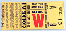 New York Yankees at Kansas City Blues Ticket Stub.