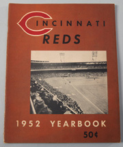 1952 Cincinnati Reds Yearbook