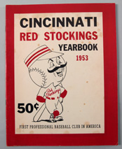 1953 Cincinnati Reds Yearbook