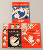 1958, 1959 & 1960 Cincinnati Reds Yearbooks