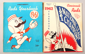 1961 & 1962 Cincinnati Reds Yearbooks