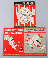 1964, 1965 & 1966 Cincinnati Reds Yearbooks