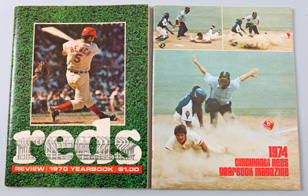 1970 & 1974 Cincinnati Reds Yearbooks
