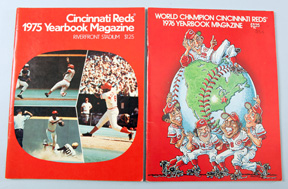 1975 & 1976 Cincinnati Reds Yearbooks