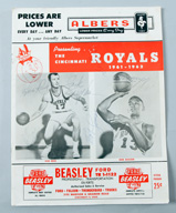 1961-62 Cincinnati Royals Program with Autographs