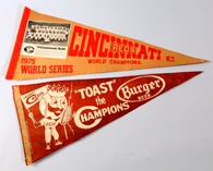 1940's Reds Burger Beer Pennant & 1975 Photo Pennant