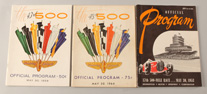 1953, 1959 & 1964 Indy 500 Racing Programs