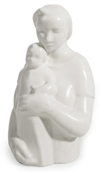 Rookwood Figure of Mother Holding Child