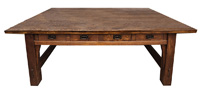 "Rare Gustav Stickley 84"" Library Table"