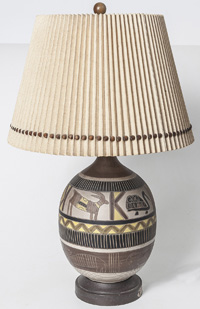 Mid-Century  Modern Pottery Table Lamp