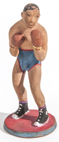 Rare Rookwood Pottery Figure of a Boxer