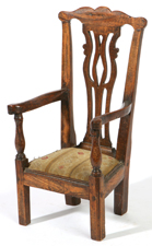 PERIOD CHIPPENDALE DOLL SIZE MINIATURE CHAIR