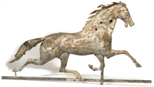 FULL BODIED COPPER HORSE WEATHERVANE