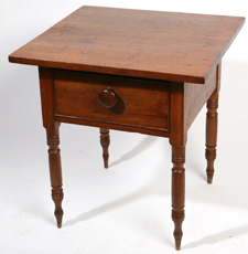EARLY CHERRY ONE-DRAWER WORK STAND