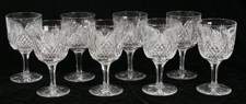 HAWKES CUT GLASS GOBLETS