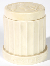 1937 WESTERN SOUTHERN ROOKWOOD COVERED JAR