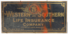 CIRCA 1920 WESTERN SOUTHERN INSURANCE SIGN