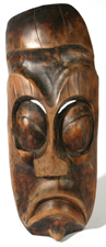 LG. CARVED AFRICAN WOOD MASK