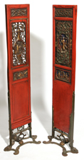 PR. CHINESE CARVED & LACQUERED PANELS