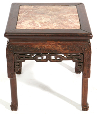 CHINESE M.T. CARVED TEAK STAND