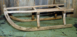 EARLY WOODEN SLED